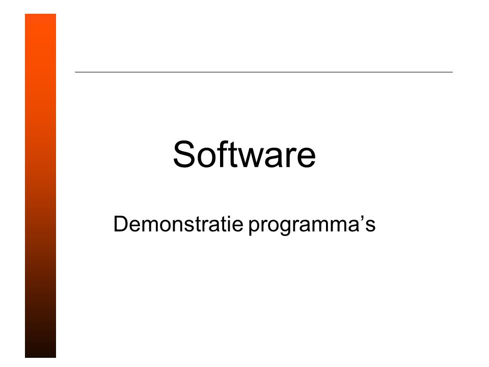 Software Demonstratie programma's