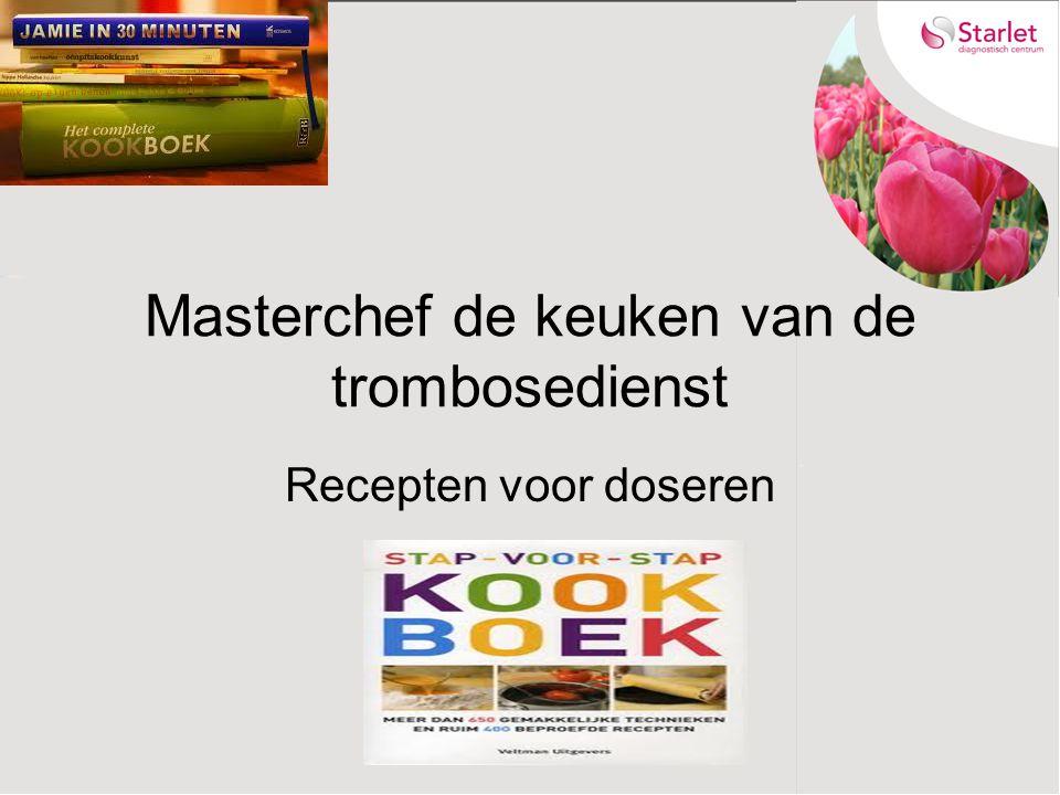 Masterchef de keuken van de trombosedienst Recepten voor doseren