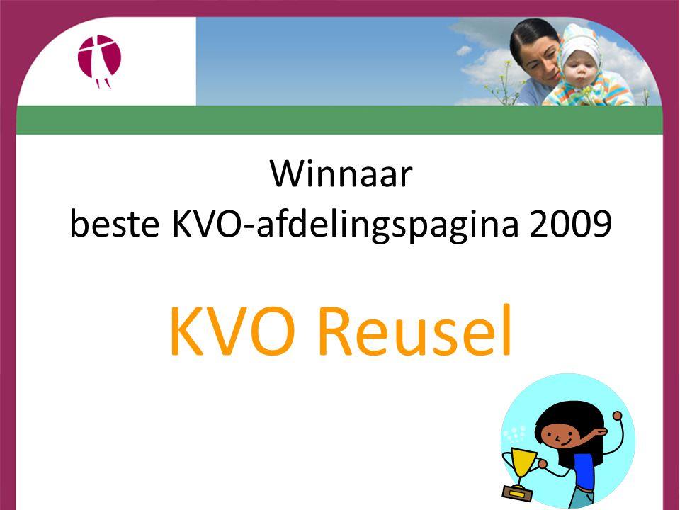 Winnaar beste KVO-afdelingspagina 2009 KVO Reusel