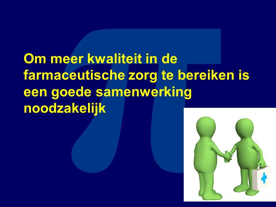 π Om meer kwaliteit in de farmaceutische zorg te bereiken is een goede samenwerking noodzakelijk