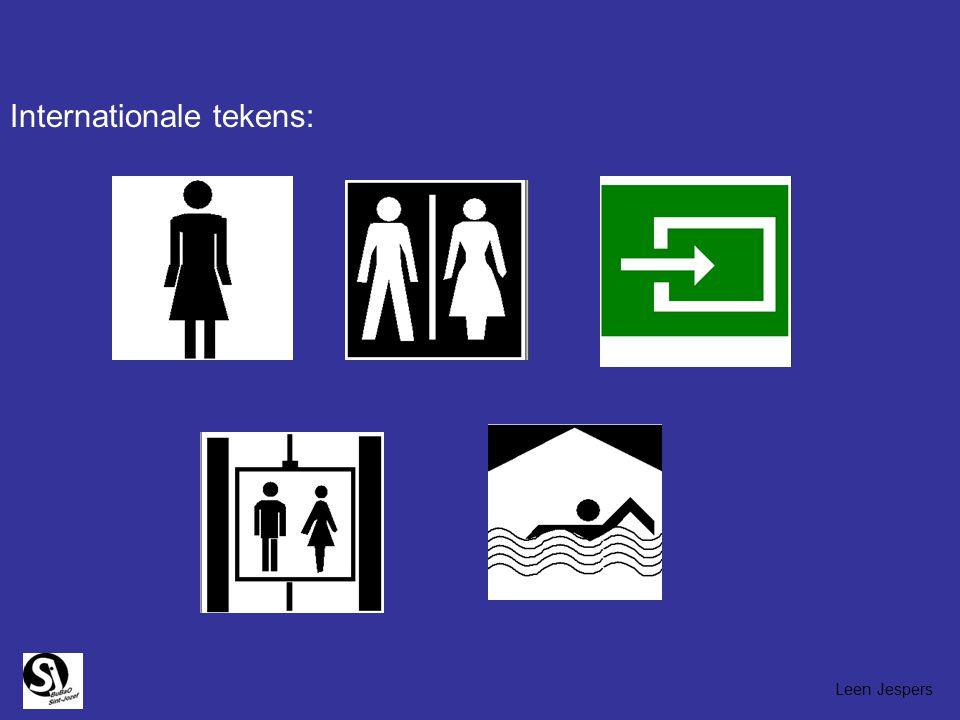 Signaalwoorden: vb. toilet Uitgang Nooduitgang globaalwoorden: vb. spaghetti frieten Leen Jespers