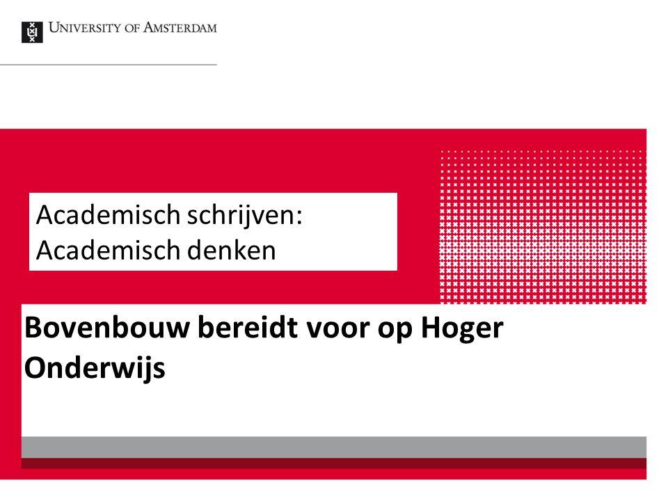 Nederlands wordt maar matig gewaardeerd door leerlingen vergeleken bij andere schoolvakken Referentiekader vraagt van vwo-leerlingen meer dan voorheen Centraal examen schrijfvaardigheid komt er aan Schrijfvaardigheid is heel belangrijk in tertiair onderwijs