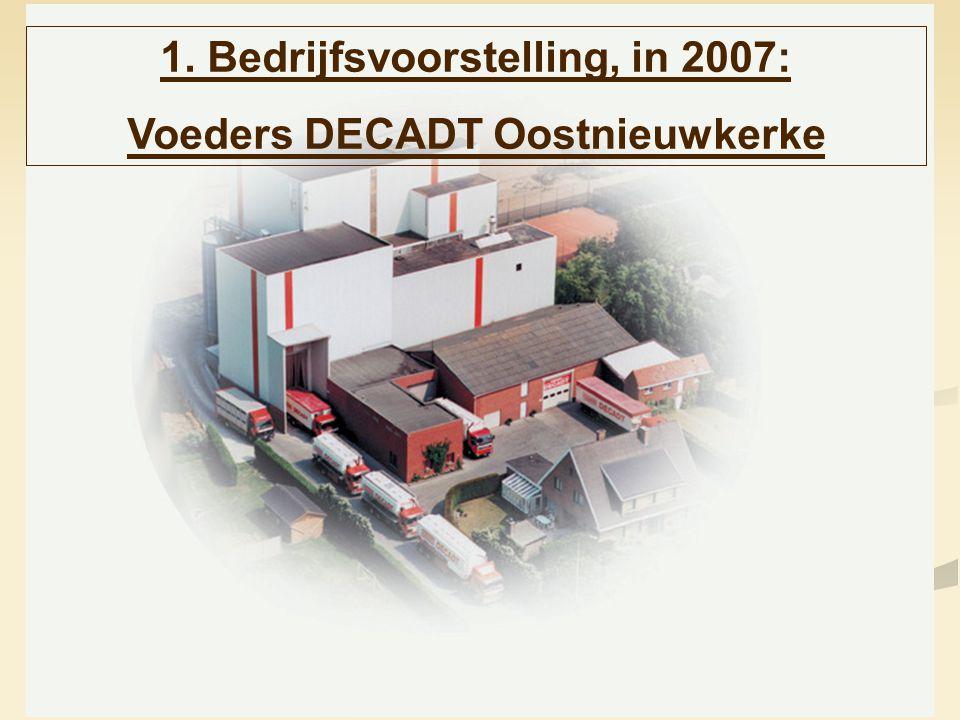 3 1. Bedrijfsvoorstelling, in 2007: Voeders DECADT Oostnieuwkerke