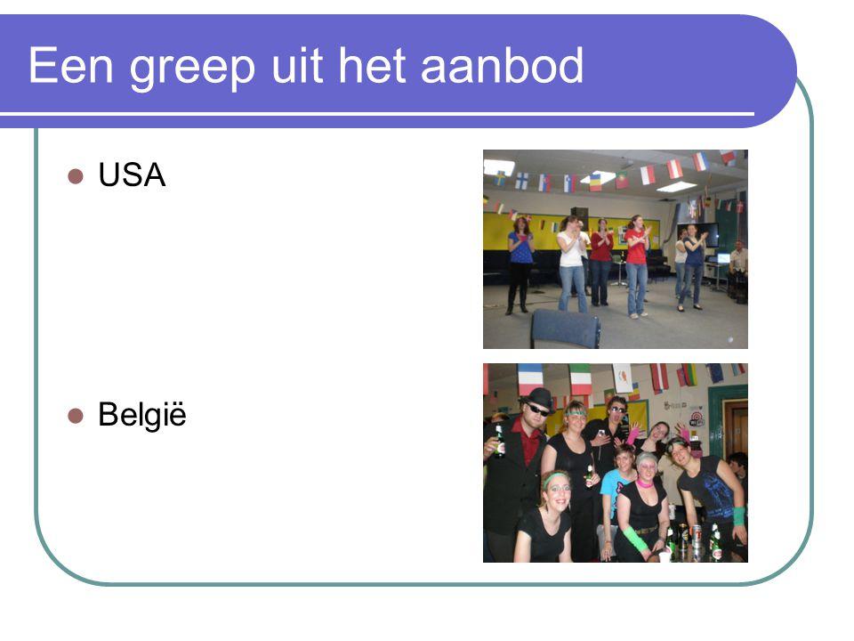 Een greep uit het aanbod USA België