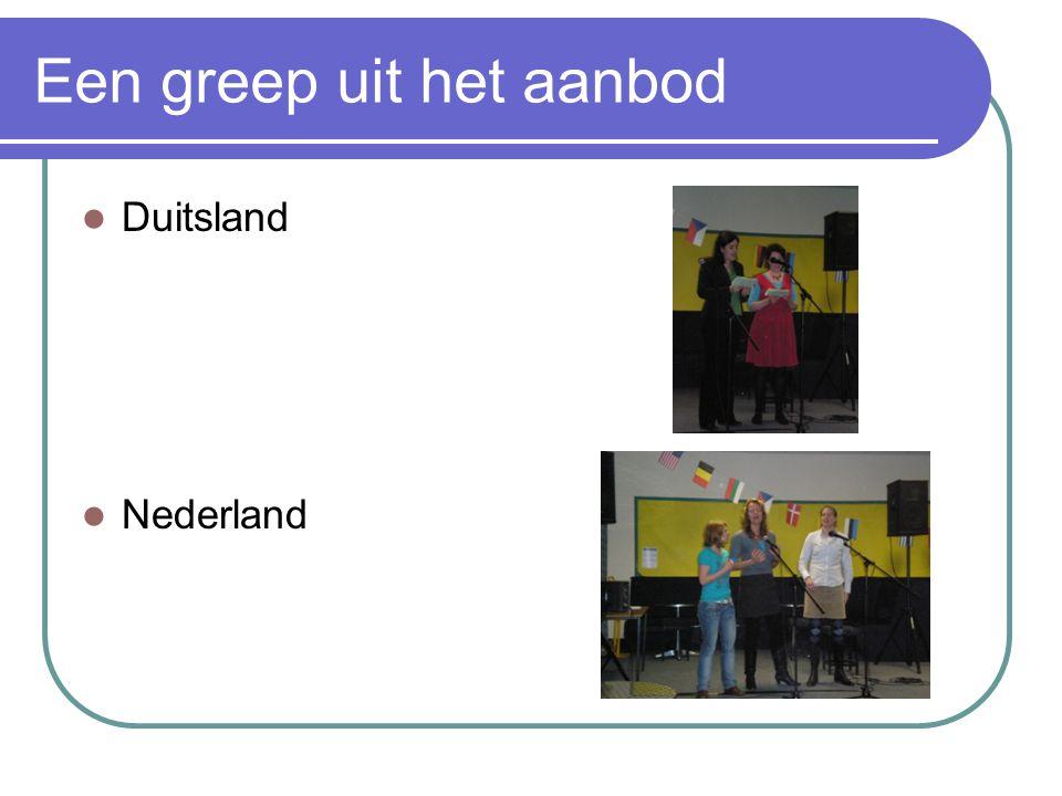 Een greep uit het aanbod Duitsland Nederland