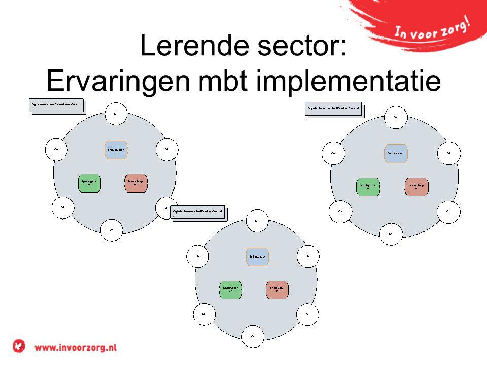Lerende sector: Ervaringen mbt implementatie