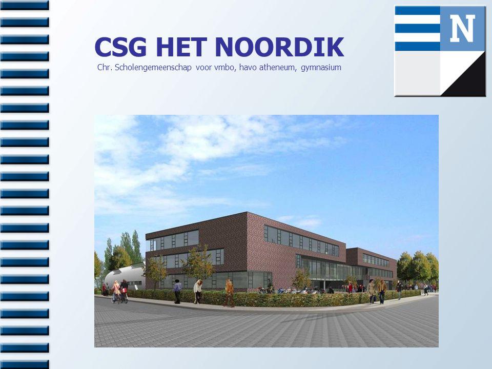 CSG HET NOORDIK Chr. Scholengemeenschap voor vmbo, havo atheneum, gymnasium