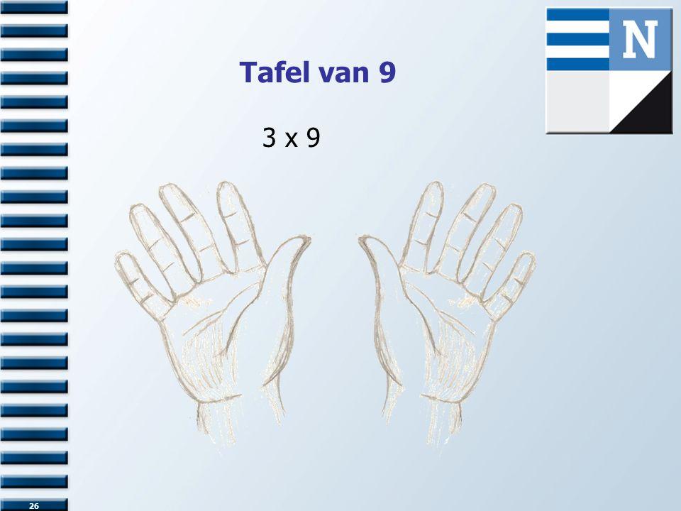 Tafel van 9 26 3 x 9