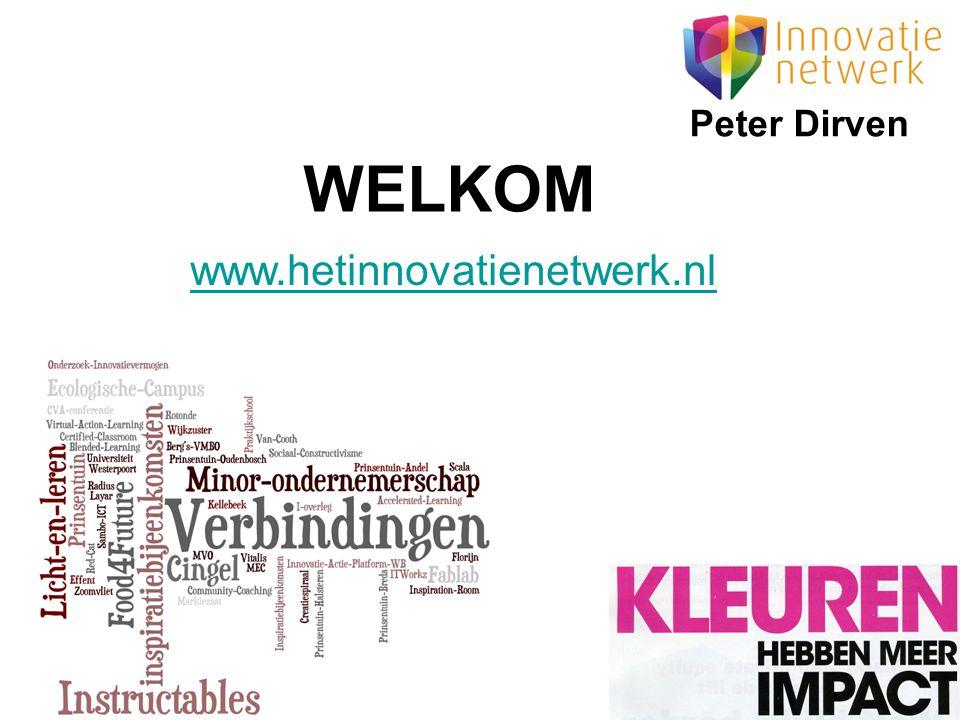 Peter Dirven WELKOM www.hetinnovatienetwerk.nl