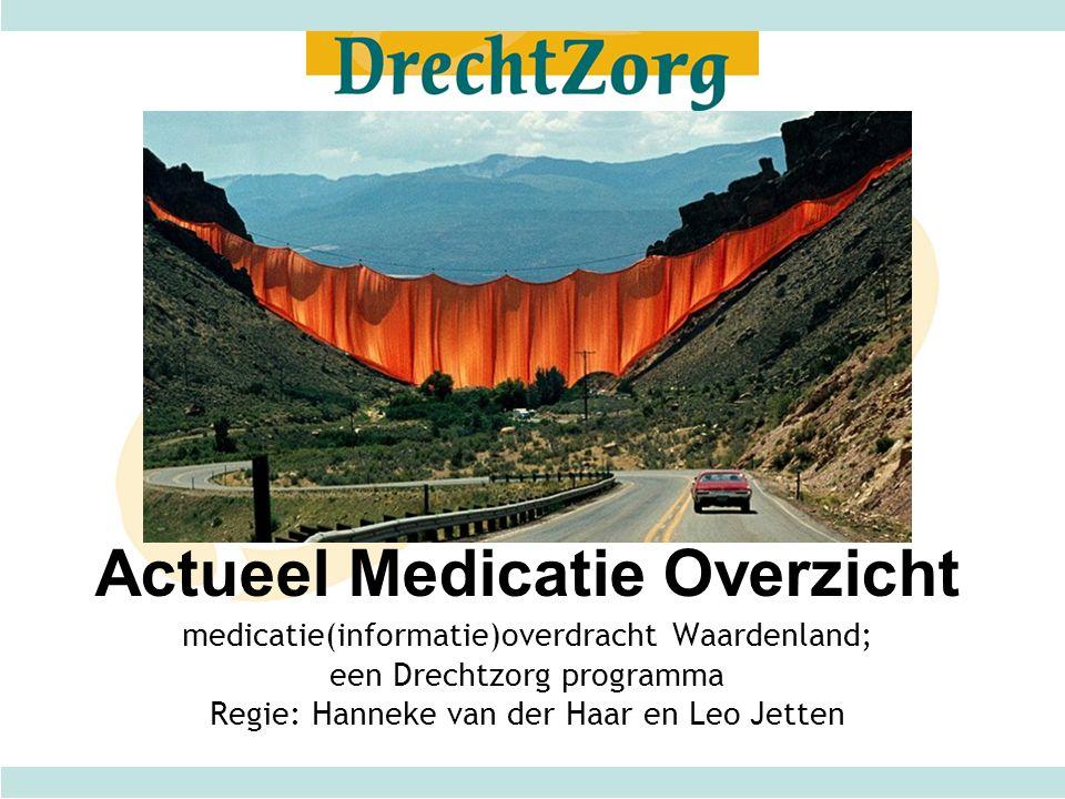 medicatie(informatie)overdracht Waardenland; een Drechtzorg programma Regie: Hanneke van der Haar en Leo Jetten Actueel Medicatie Overzicht