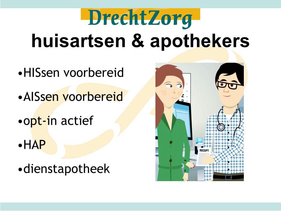 huisartsen & apothekers HISsen voorbereid AISsen voorbereid opt-in actief HAP dienstapotheek