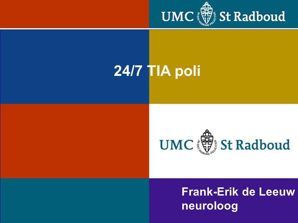 Frank-Erik de Leeuw neuroloog 24/7 TIA poli