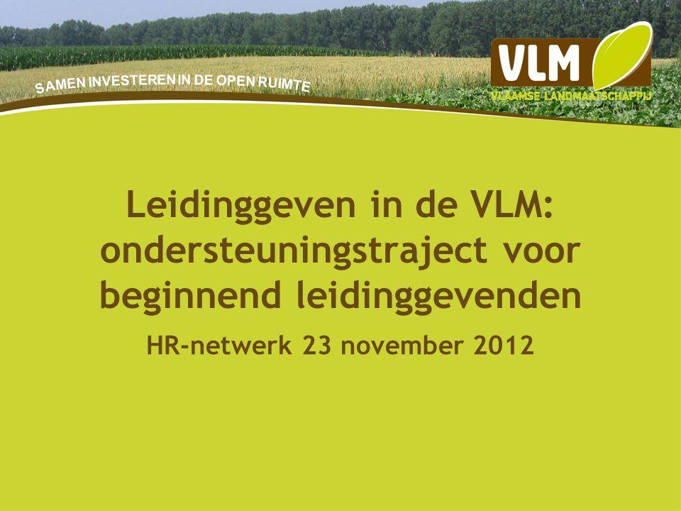 9-7-20141 HR-netwerk 23 november 2012 Leidinggeven in de VLM: ondersteuningstraject voor beginnend leidinggevenden