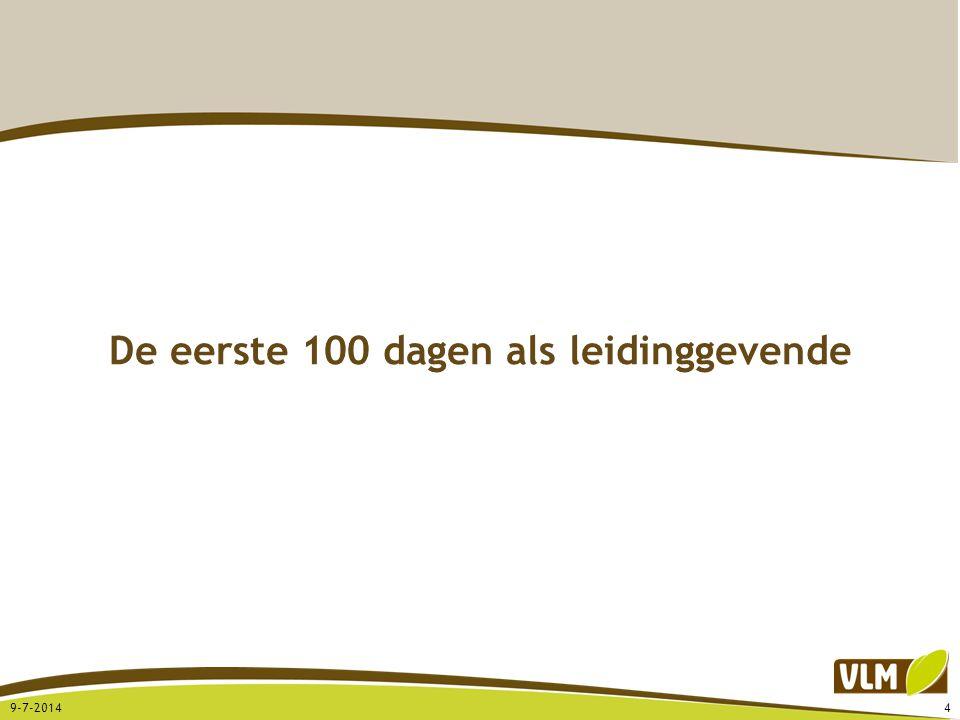De eerste 100 dagen als leidinggevende 9-7-20144