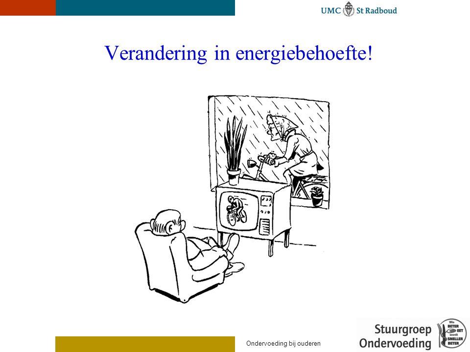 Verandering in energiebehoefte! Ondervoeding bij ouderen