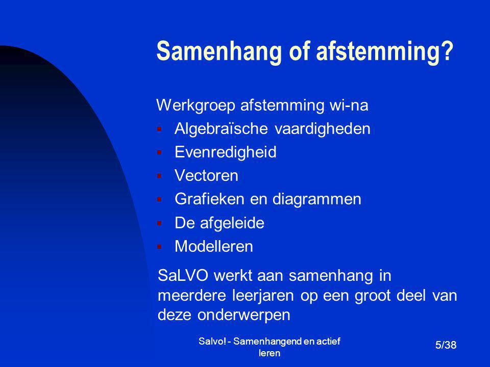 Salvo.- Samenhangend en actief leren Samenhang of afstemming.