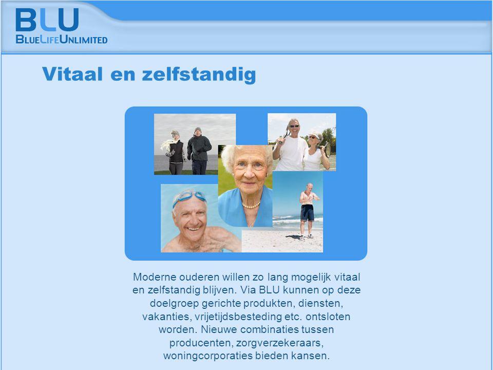Amsterdam 9 september 2005 BLU Vision Table Moderne ouderen willen zo lang mogelijk vitaal en zelfstandig blijven. Via BLU kunnen op deze doelgroep ge