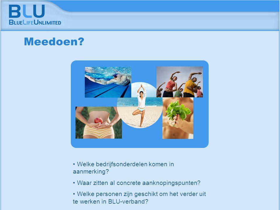 Amsterdam 9 september 2005 BLU Vision Table Welke bedrijfsonderdelen komen in aanmerking? Waar zitten al concrete aanknopingspunten? Welke personen zi