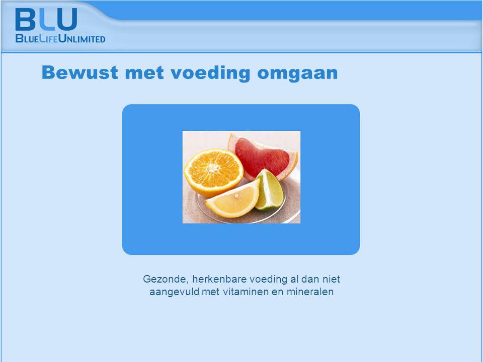 Amsterdam 9 september 2005 BLU Vision Table Gezonde, herkenbare voeding al dan niet aangevuld met vitaminen en mineralen Bewust met voeding omgaan