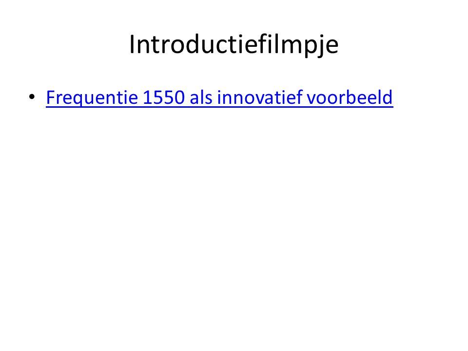 Introductiefilmpje Frequentie 1550 als innovatief voorbeeld