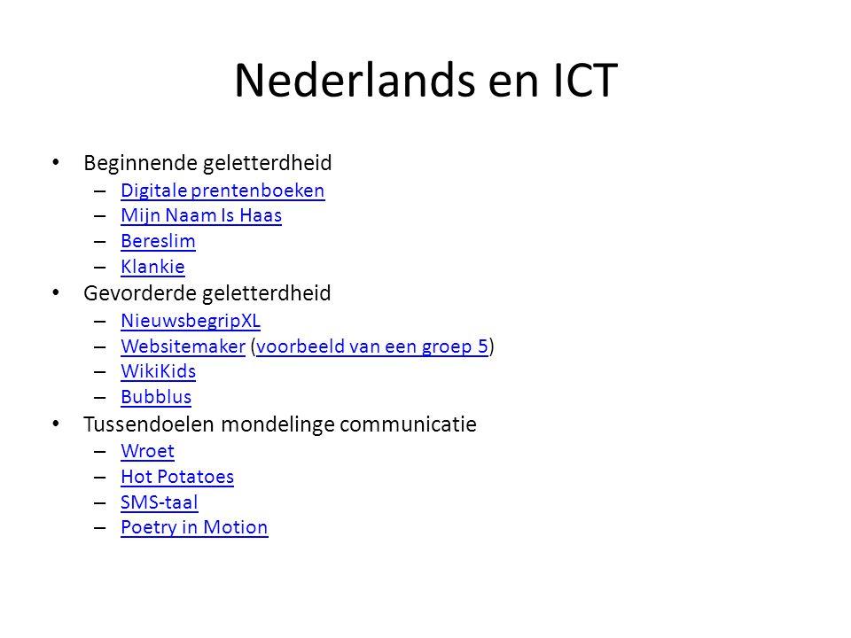 Nederlands en ICT Beginnende geletterdheid – Digitale prentenboeken Digitale prentenboeken – Mijn Naam Is Haas Mijn Naam Is Haas – Bereslim Bereslim –