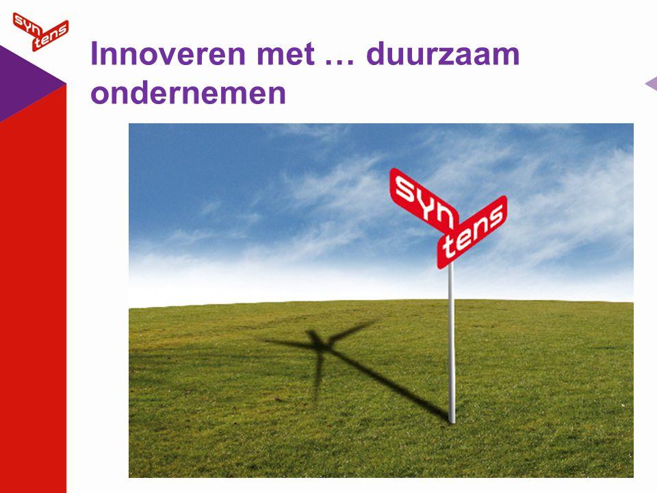 Inleidend verhaal bij titel dia Vandaag proeverij duurzaam innoveren.