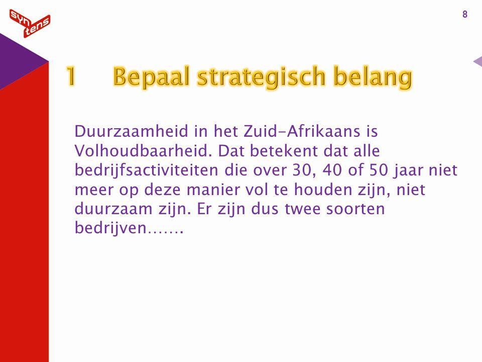 Duurzaamheid in het Zuid-Afrikaans is Volhoudbaarheid.