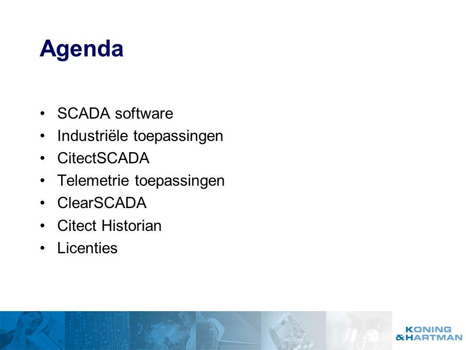 CitectSCADA Meer dan 300 communicatie drivers True cliënt-server architectuur Onafhankelijke besturingsleverancier Schaalbaar Voor alle gangbare Windows versies Meervoudig redundant SCADA Systeem Integrated Windows Security