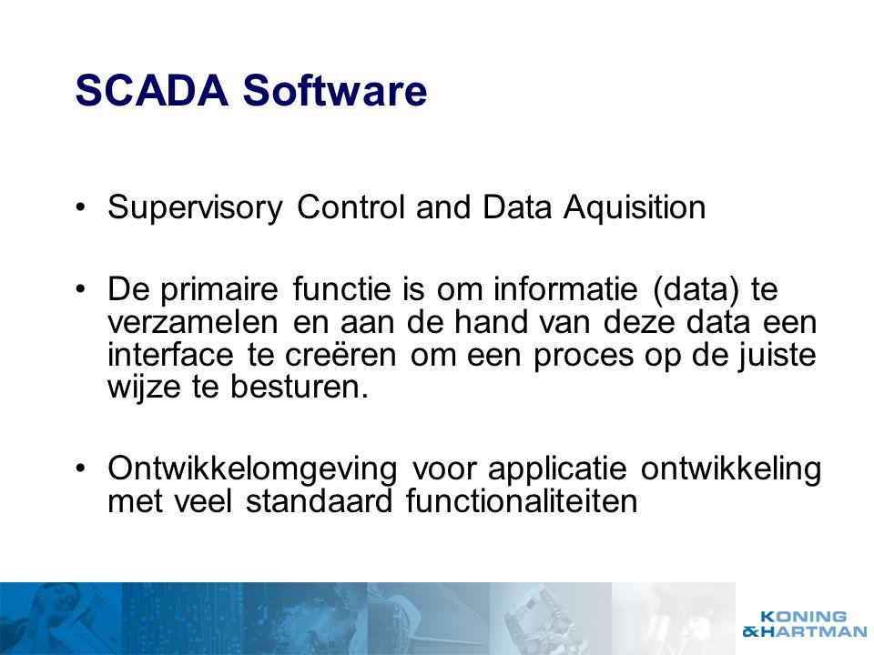 Ontstaan uit Behoefte Visualiseren Bedienen Controleren Centraliseren Koppelen Communiceren Analyseren...