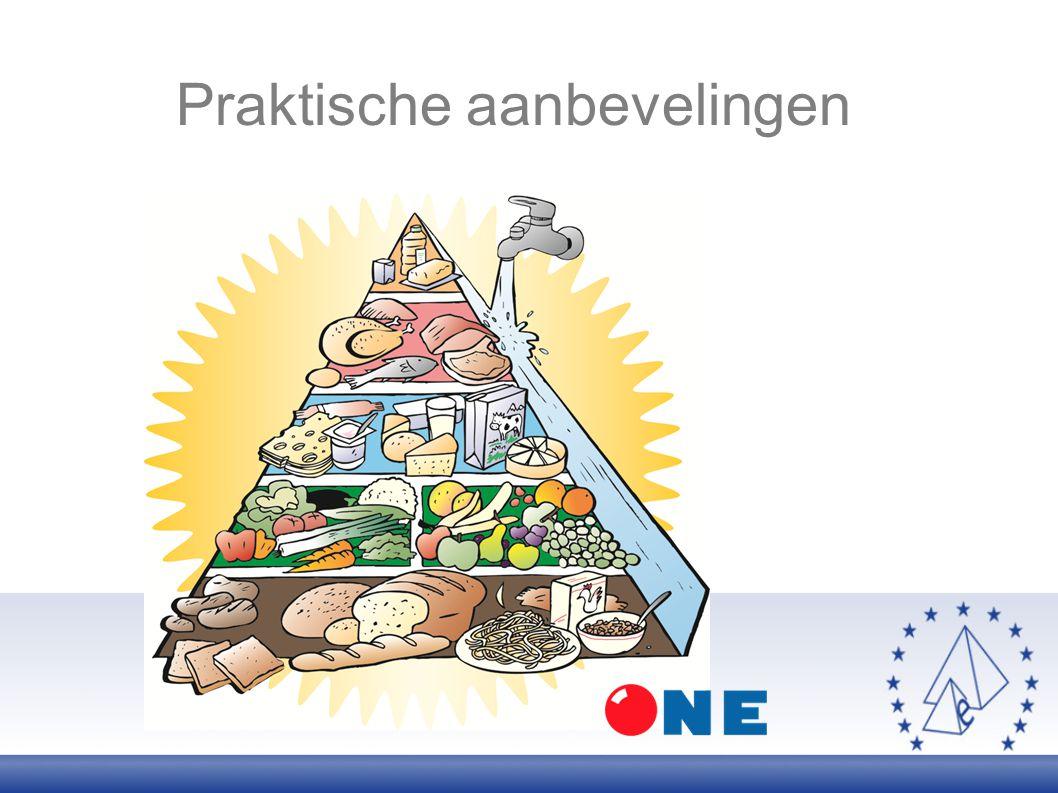 Apports nutritionnels Praktische aanbevelingen