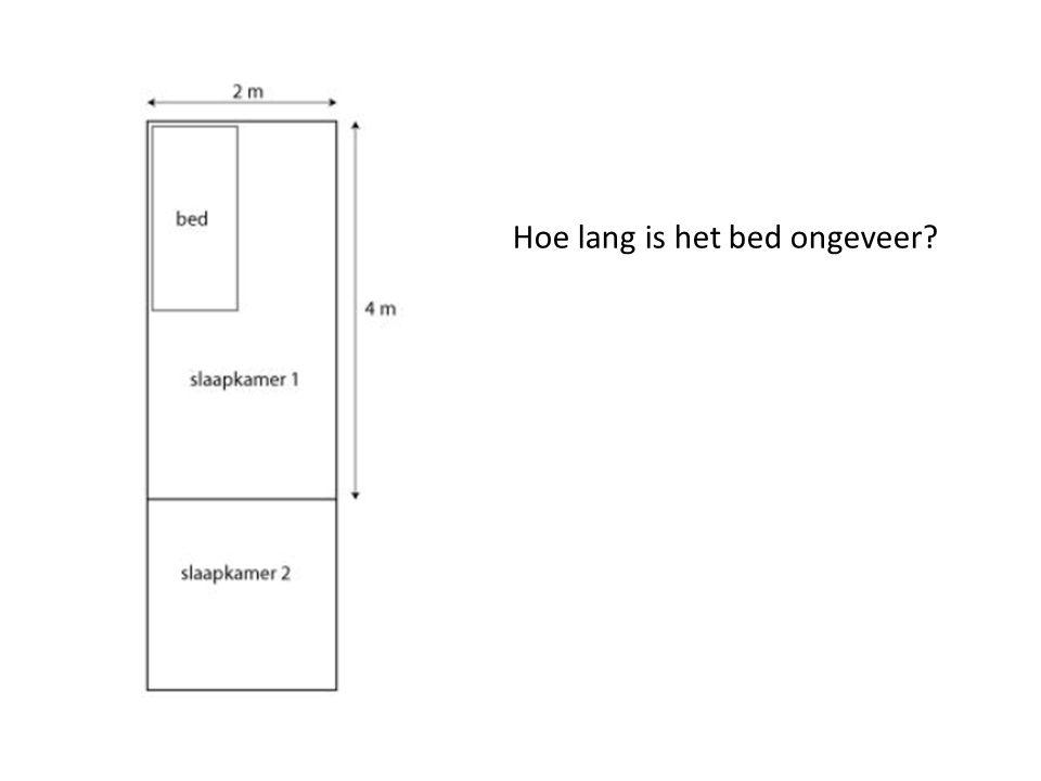 Hoe lang is het bed ongeveer?