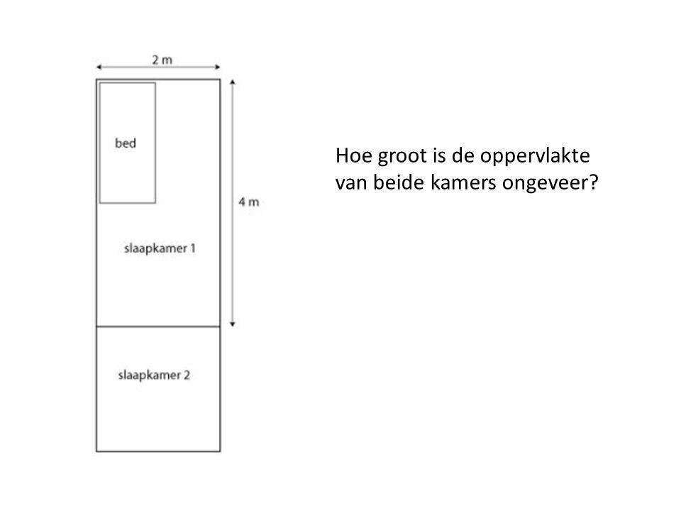 Hoe groot is de oppervlakte van beide kamers ongeveer?