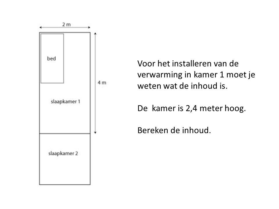 Voor het installeren van de verwarming in kamer 1 moet je weten wat de inhoud is.