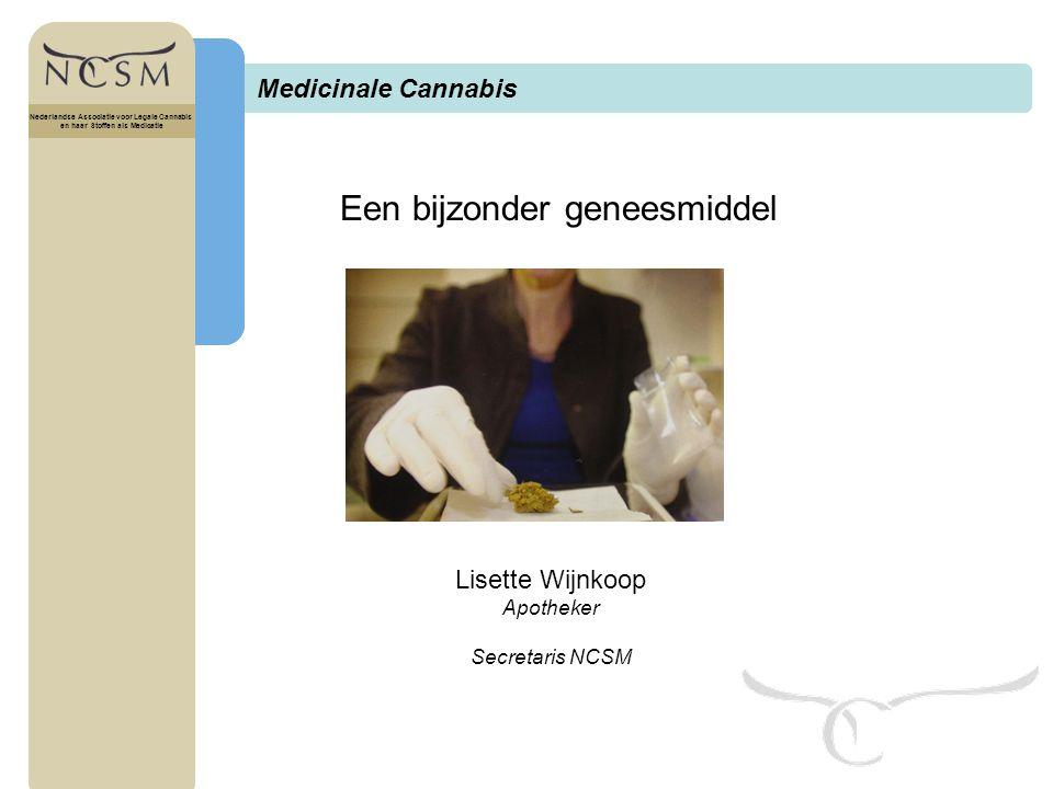 Titel Nederlandse Associatie voor Legale Cannabis en haar Stoffen als Medicatie Cannabis bij MS.
