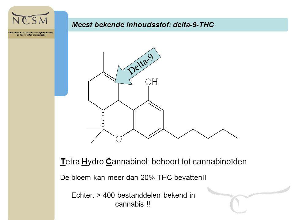 Titel Nederlandse Associatie voor Legale Cannabis en haar Stoffen als Medicatie Cannabis historie en ontwikkeling Nederlandse Associatie voor Legale Cannabis en haar Stoffen als Medicatie anandamide 2-arachidonylglycerol Cannabinoiden ontdekt 1960 1970 1980 1990 2000 Receptoren in CZS & immuun systeem Endogene cannabinoiden Cannabinoid medicijnen