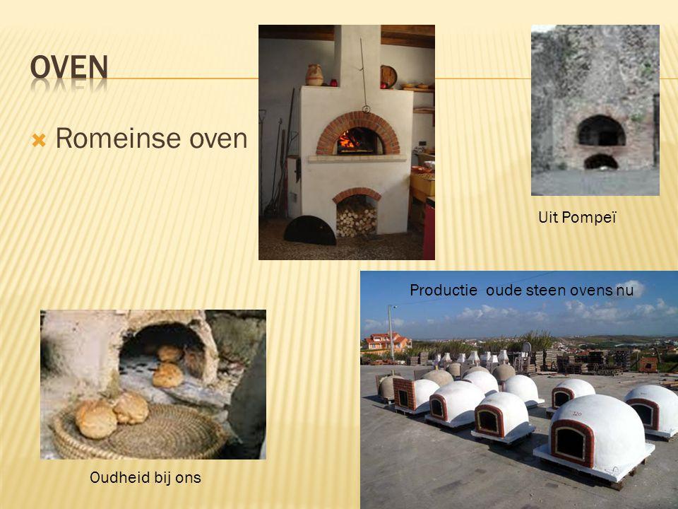  Romeinse oven Uit Pompeï Productie oude steen ovens nu Oudheid bij ons