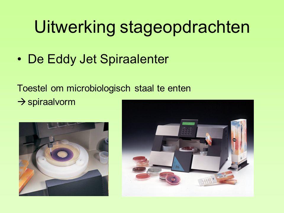 Uitwerking stageopdrachten De Eddy Jet Spiraalenter Toestel om microbiologisch staal te enten  spiraalvorm