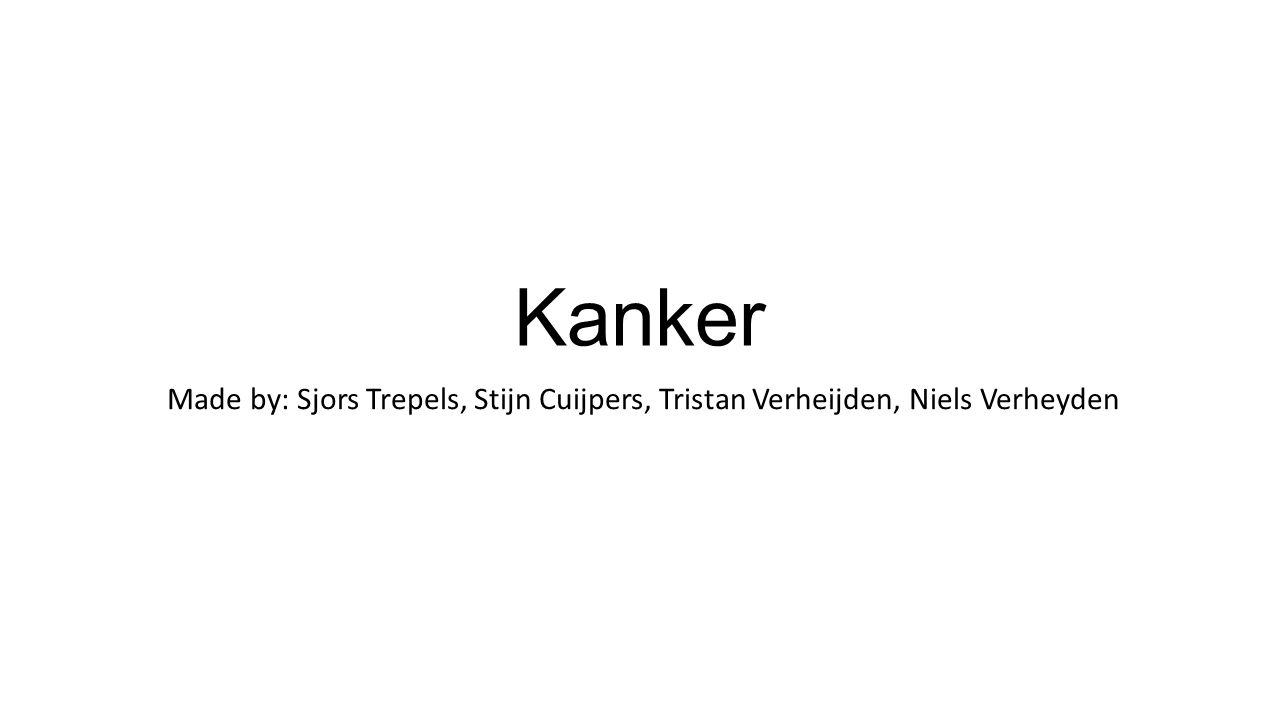 Kanker Made by: Sjors Trepels, Stijn Cuijpers, Tristan Verheijden, Niels Verheyden
