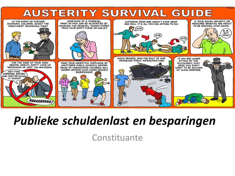 Publieke schuldenlast en besparingen Constituante