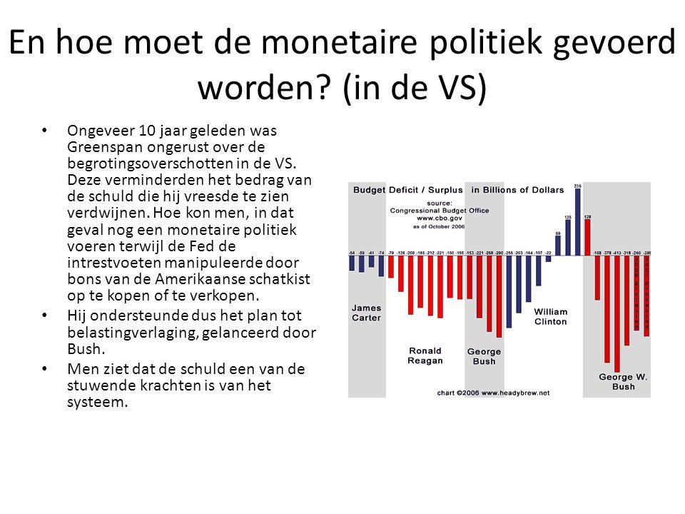 En hoe moet de monetaire politiek gevoerd worden.