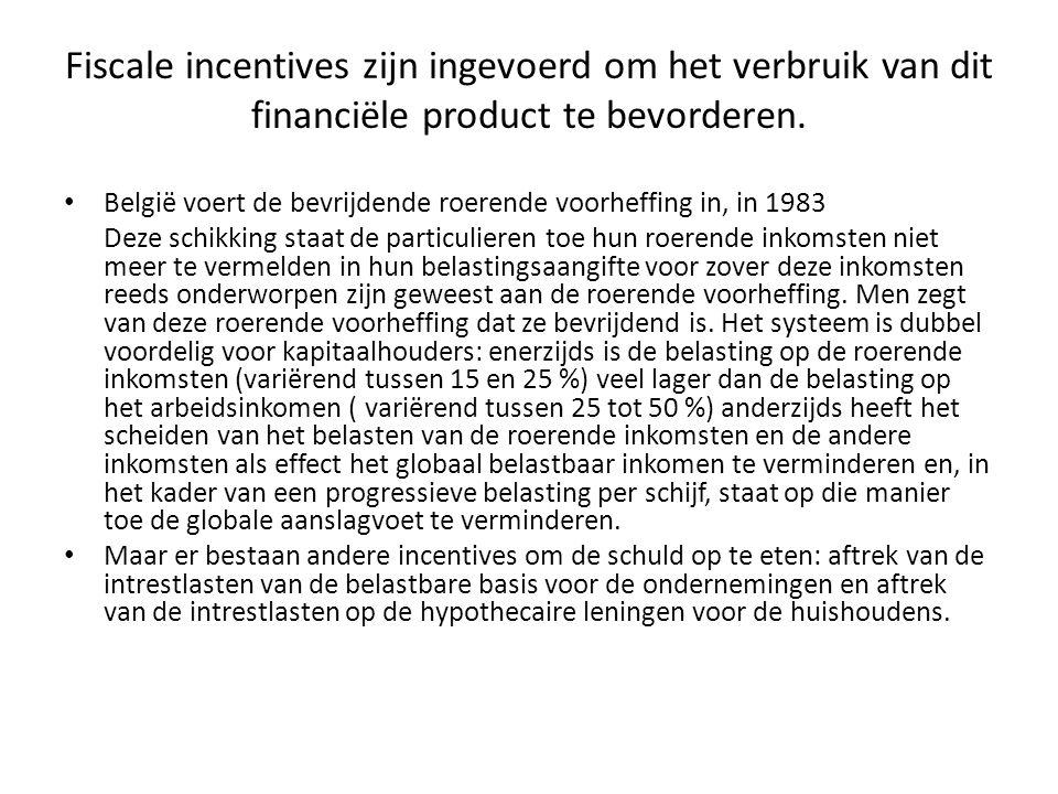 Fiscale incentives zijn ingevoerd om het verbruik van dit financiële product te bevorderen.