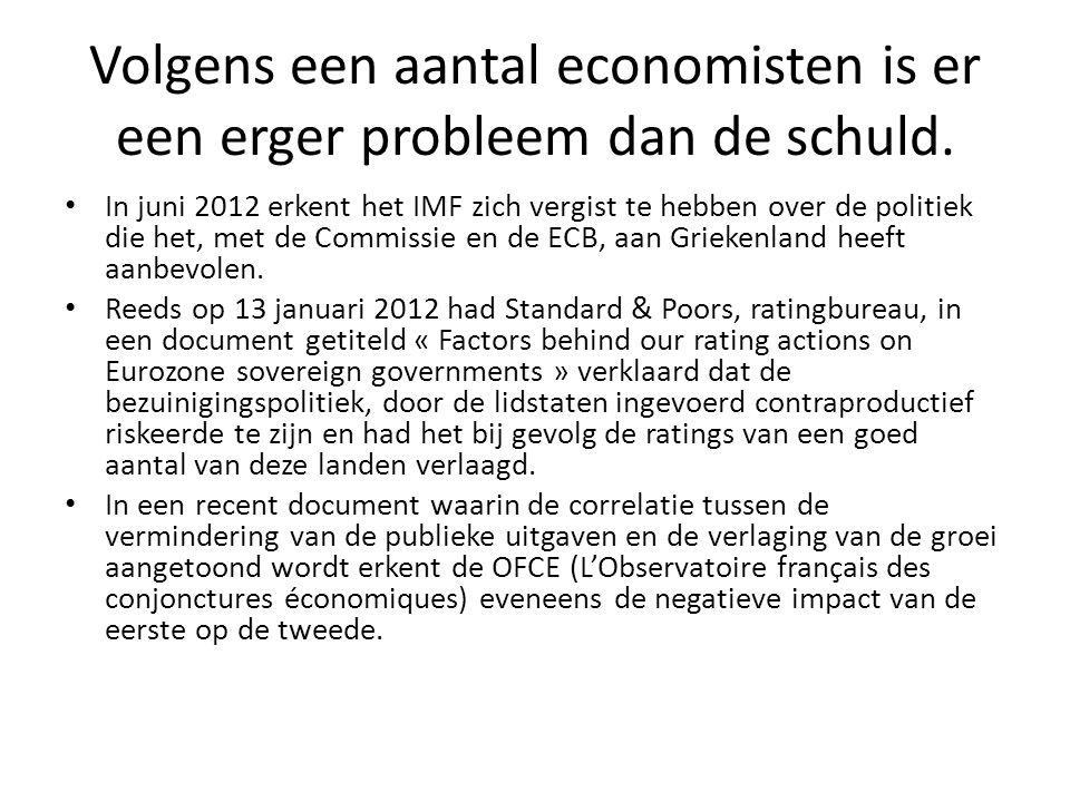 Volgens een aantal economisten is er een erger probleem dan de schuld.