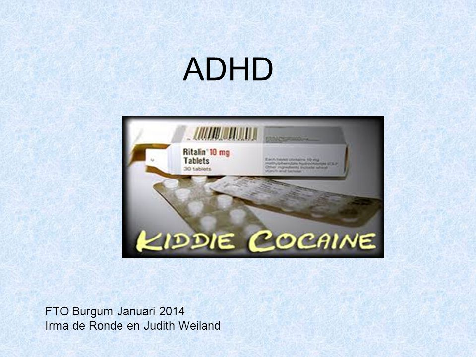ADHD FTO Burgum Januari 2014 Irma de Ronde en Judith Weiland