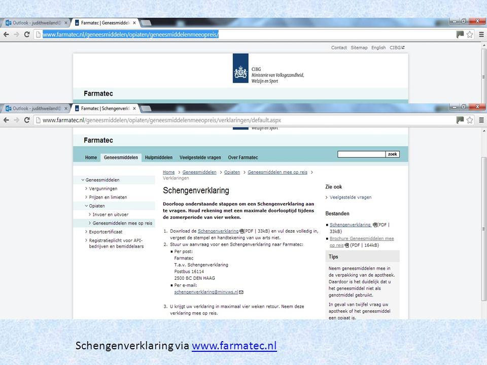 Schengenverklaring via www.farmatec.nlwww.farmatec.nl