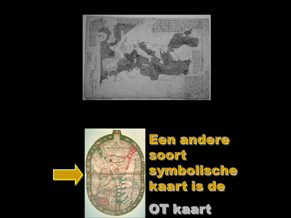 Dit is een Engelse kaart uit 1350.Heel beroemd en vaak nagetekend.