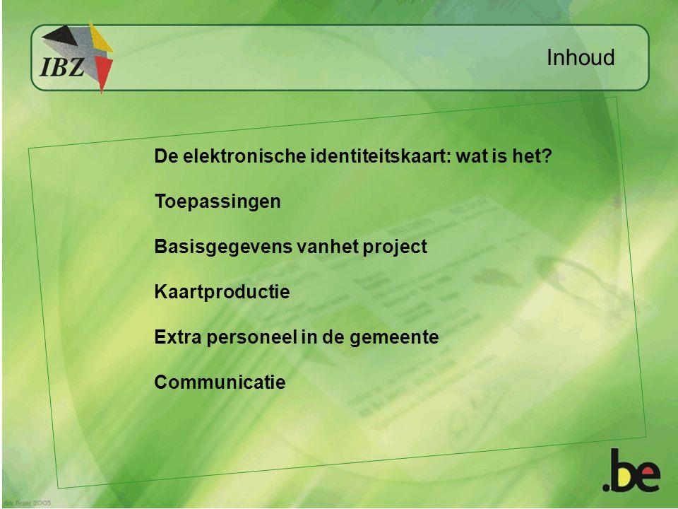 Inhoud De elektronische identiteitskaart: wat is het.