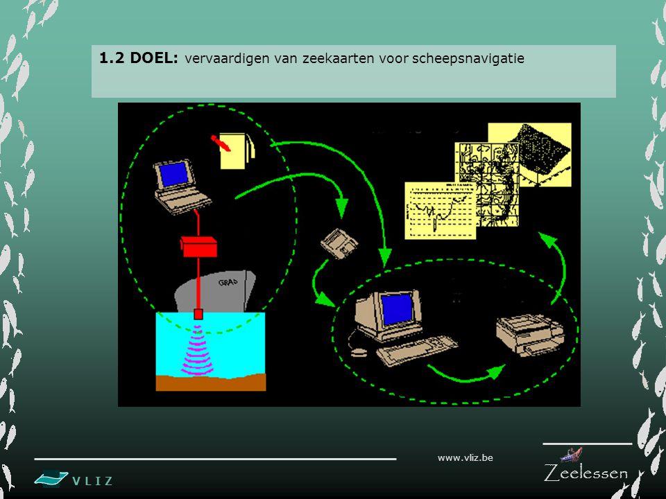 V L I Z www.vliz.be Zeelessen 1.2 DOEL: vervaardigen van zeekaarten voor scheepsnavigatie