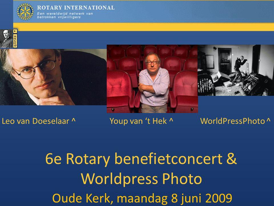 6e Rotary benefietconcert & Worldpress Photo Oude Kerk, maandag 8 juni 2009 Leo van Doeselaar ^Youp van 't Hek ^ WorldPressPhoto ^
