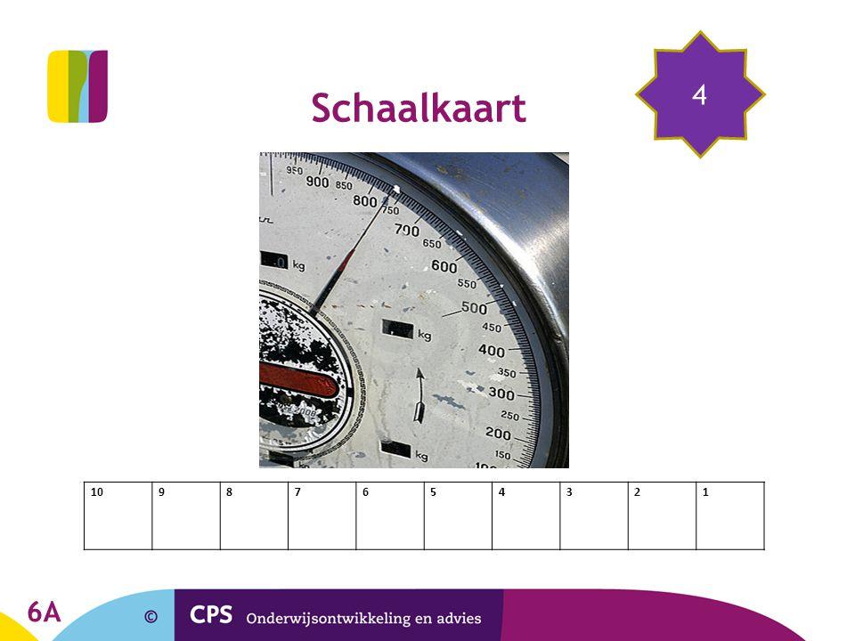 10987654321 4 Schaalkaart 6A