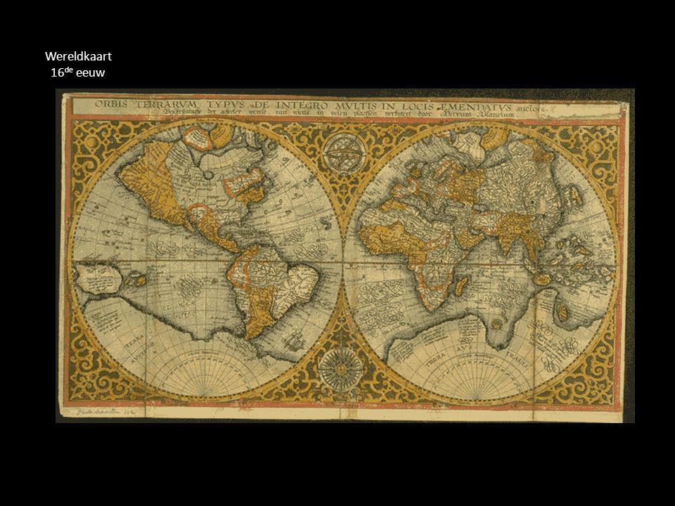 Wereldkaart 16 de eeuw